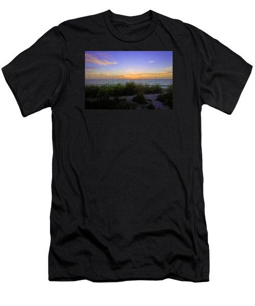Sunset At Barefoot Beach Preserve In Naples, Fl Men's T-Shirt (Athletic Fit)