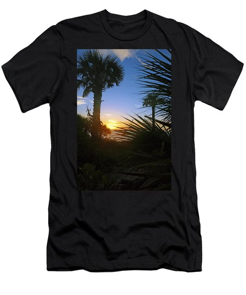Sunset At Bearefoot Beach In Naples Men's T-Shirt (Athletic Fit)