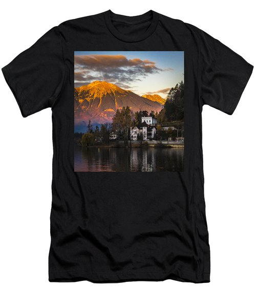 Sunset At Bled Men's T-Shirt (Athletic Fit)