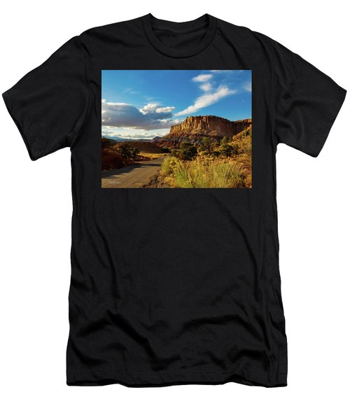 Sunset At Capitol Reef Men's T-Shirt (Athletic Fit)