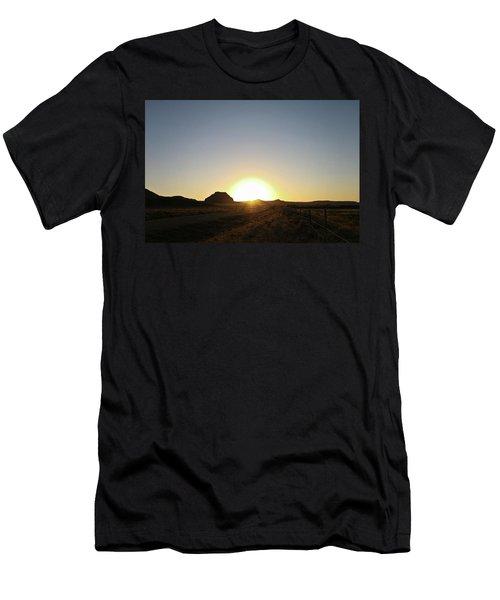Sunset At Castle Butte Sk Men's T-Shirt (Athletic Fit)