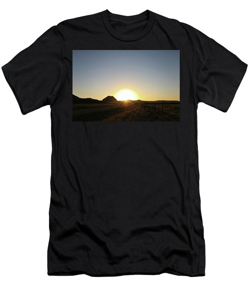 Sunset At Castle Butte Sk Men's T-Shirt (Athletic Fit)