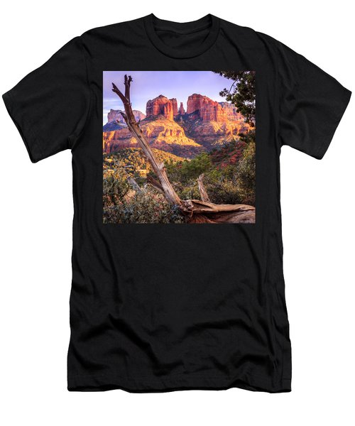 Sunset At Cathedral Rock Men's T-Shirt (Athletic Fit)