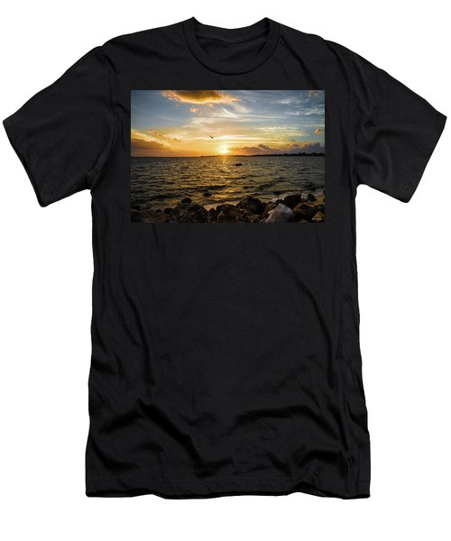 Sunset At Cedar Key Men's T-Shirt (Athletic Fit)
