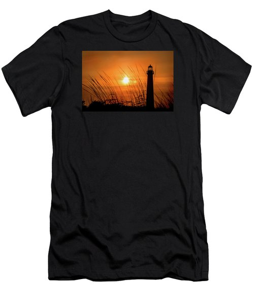 Sunset At Cm Lighthouse Men's T-Shirt (Athletic Fit)