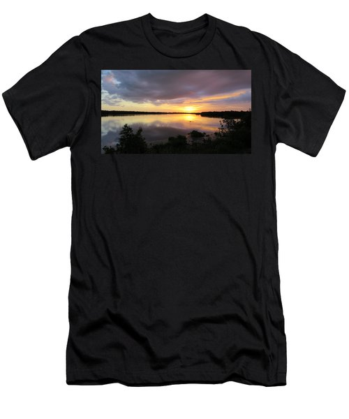 Sunset At Ding Darling Men's T-Shirt (Slim Fit) by Melinda Saminski