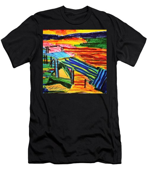 Sunset At Dock Men's T-Shirt (Athletic Fit)