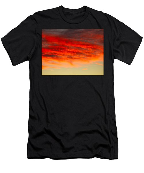 Sunset At Eaton Rapids 4826 Men's T-Shirt (Athletic Fit)
