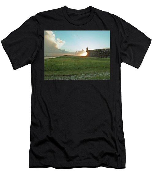 Sunset At El Morro Men's T-Shirt (Athletic Fit)