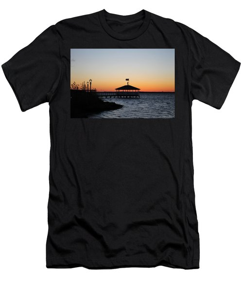 Sunset At Fagers Island Gazebo Men's T-Shirt (Slim Fit) by Robert Banach