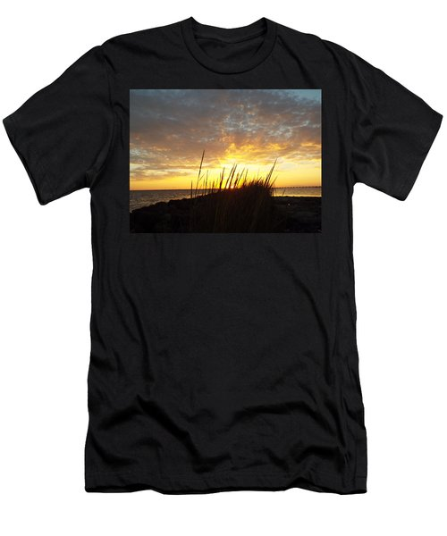 Sunset At Goose Island, Tx Men's T-Shirt (Athletic Fit)