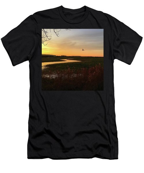 Sunset At Holkham Today  #landscape Men's T-Shirt (Athletic Fit)