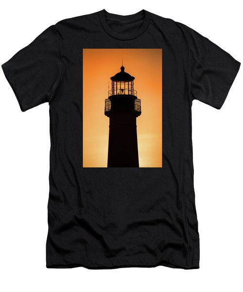 Sunset At Lighthouse Men's T-Shirt (Athletic Fit)