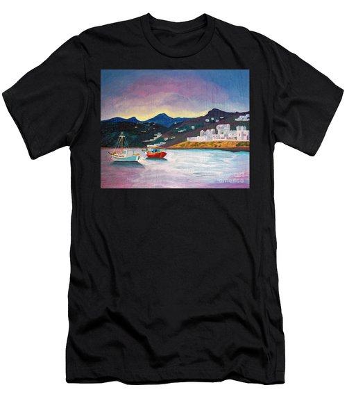 Sunset At Mykonos Men's T-Shirt (Athletic Fit)