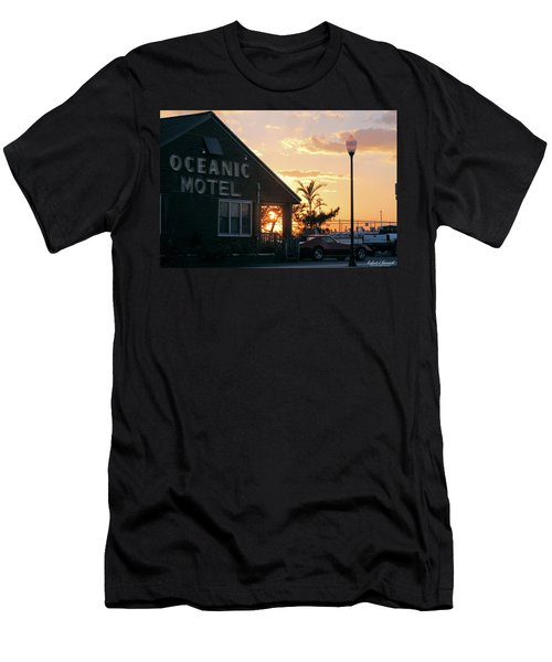 Sunset At Oceanic Motel Men's T-Shirt (Athletic Fit)