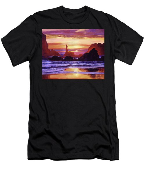 Sunset At Oregon Rocks Men's T-Shirt (Athletic Fit)