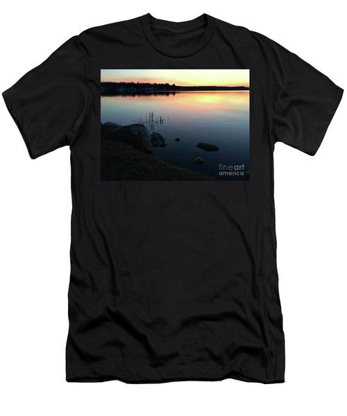 Sunset At Pentwater Lake Men's T-Shirt (Athletic Fit)