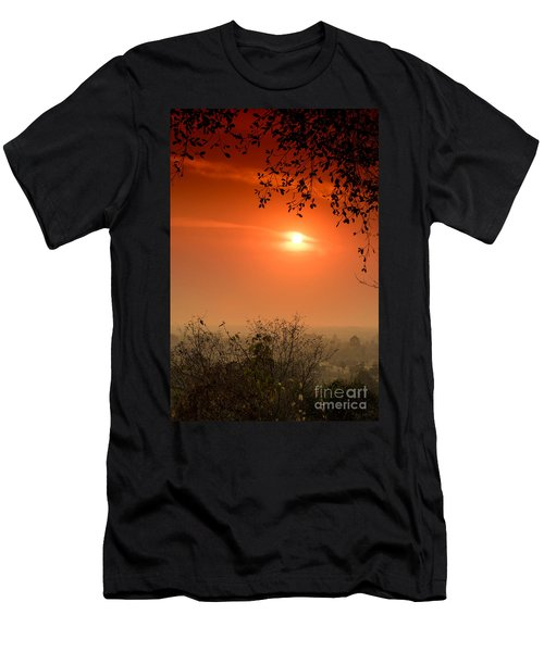 Sunset At Phnom Bakheng Of Angkor Wat Men's T-Shirt (Athletic Fit)