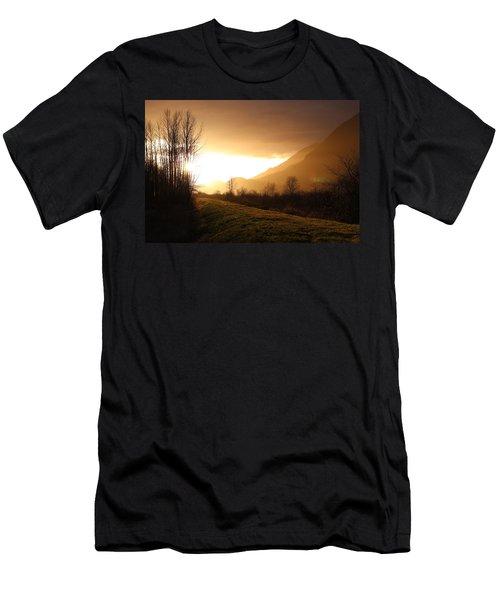 Sunset At Pitt Lake Dyke Men's T-Shirt (Athletic Fit)