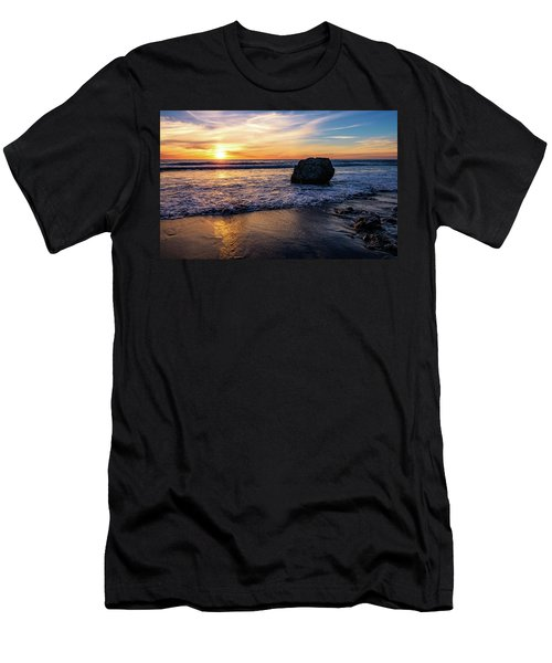 Men's T-Shirt (Athletic Fit) featuring the photograph Sunset At San Simeon Beach by John Hight