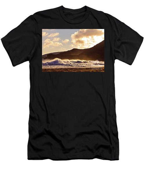 Sunset At Sandy Beach Men's T-Shirt (Athletic Fit)