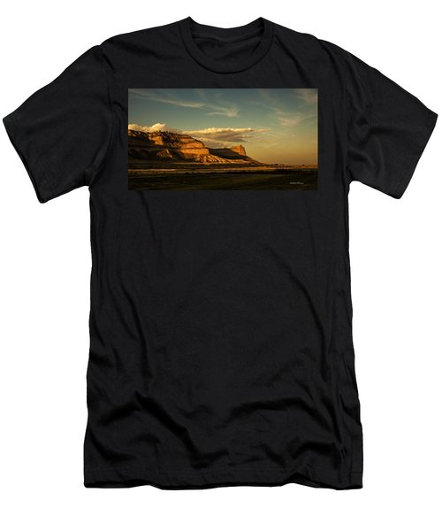 Sunset At Scotts Bluff National Monument Men's T-Shirt (Athletic Fit)