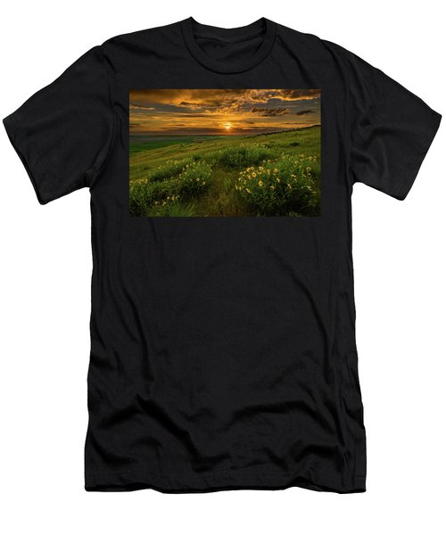 Sunset At Steptoe Butte Men's T-Shirt (Athletic Fit)
