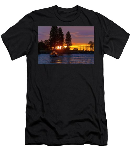 Sunset At Sunset Beach In Vancouver Bc Men's T-Shirt (Athletic Fit)