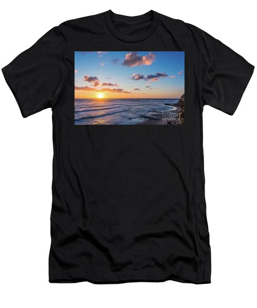 Sunset At Swami's Beach  Men's T-Shirt (Athletic Fit)