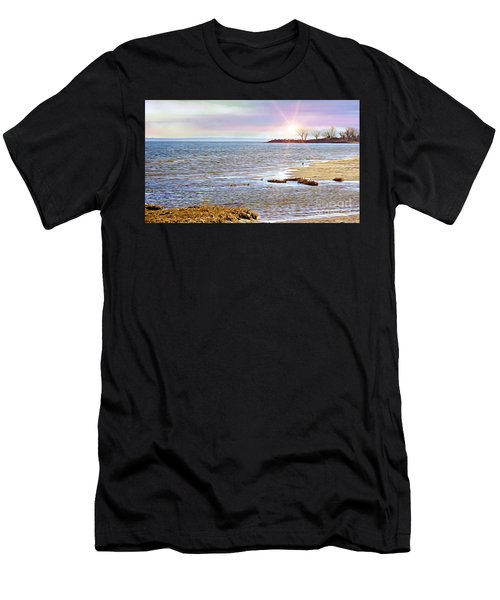 Sunset At The Beach - Tod's Point Men's T-Shirt (Athletic Fit)