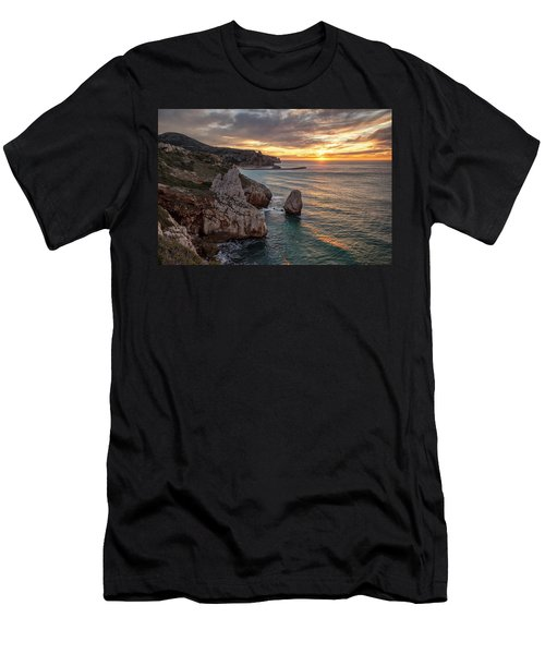 Sunset At The Nest Of The Eagle Men's T-Shirt (Athletic Fit)
