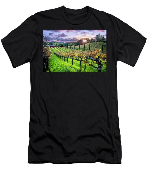 Sunset At The Palmers Men's T-Shirt (Athletic Fit)