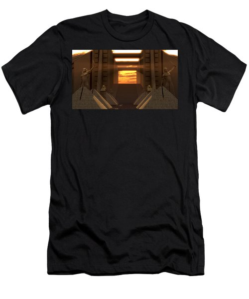 Sunset At The Temple Men's T-Shirt (Athletic Fit)