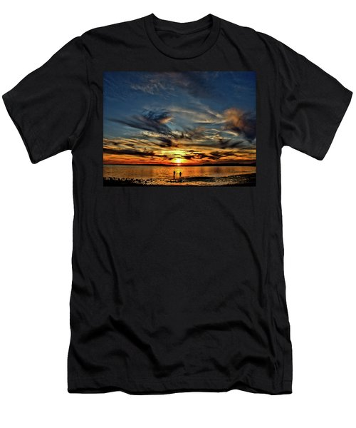 Sunset At The Waters Edge Men's T-Shirt (Athletic Fit)