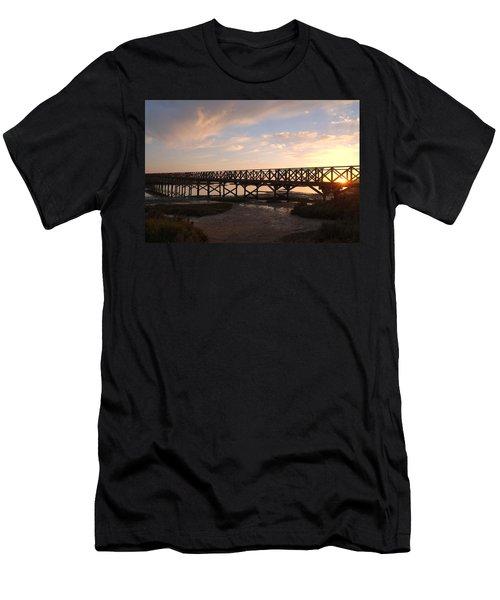 Sunset At The Wooden Bridge Men's T-Shirt (Athletic Fit)