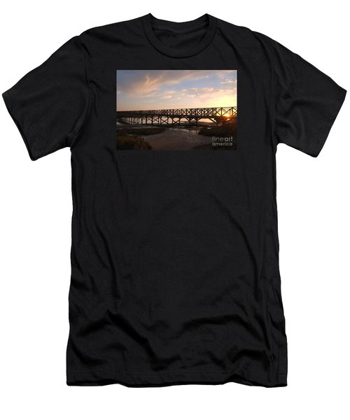 Sunset At The Wooden Bridge Men's T-Shirt (Athletic Fit)