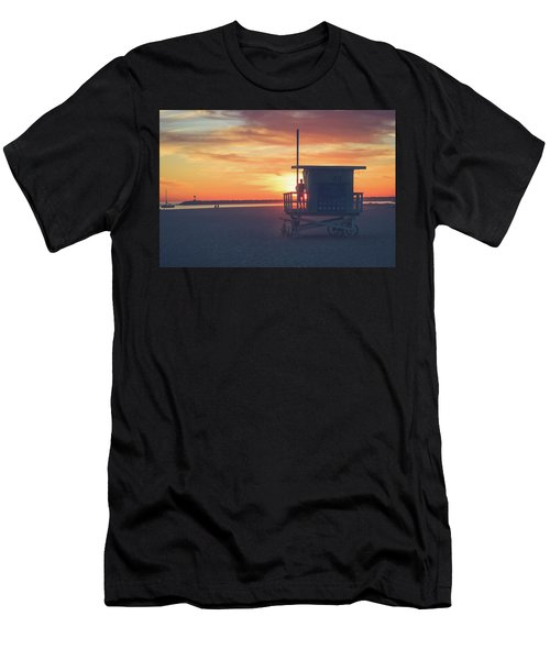 Sunset At Toes Beach Men's T-Shirt (Athletic Fit)
