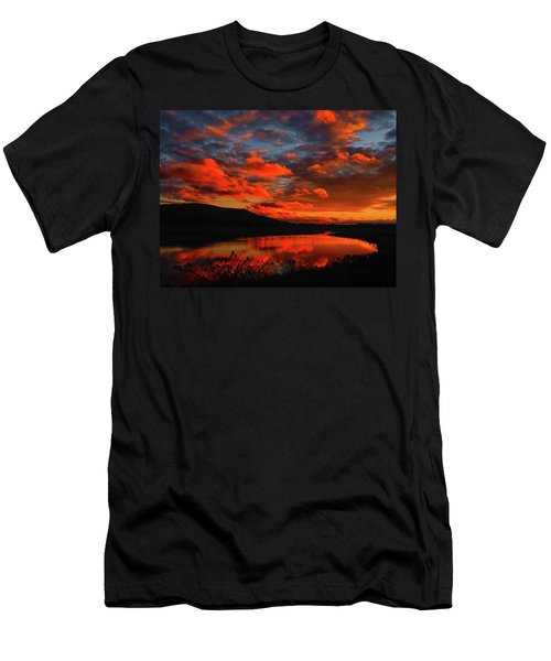 Sunset At Wallkill River National Wildlife Refuge Men's T-Shirt (Athletic Fit)