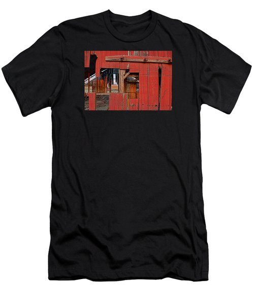 Men's T-Shirt (Slim Fit) featuring the photograph Sunset Barn by Steve Siri