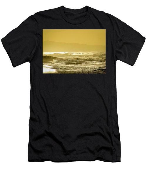 Sunset Beach Aglow  Men's T-Shirt (Athletic Fit)