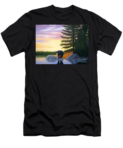 Sunset Bear Men's T-Shirt (Athletic Fit)