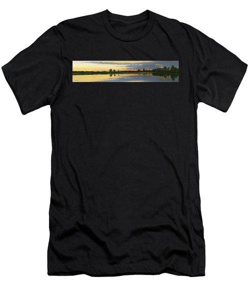 Sunset Ben Jack Pond Men's T-Shirt (Athletic Fit)