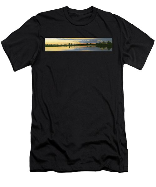 Sunset Ben Jack Pond Men's T-Shirt (Athletic Fit)