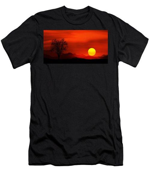 Sunset Men's T-Shirt (Slim Fit) by Bess Hamiti