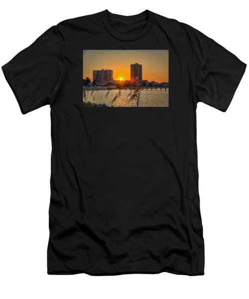 Sunset Between The Condos Men's T-Shirt (Athletic Fit)