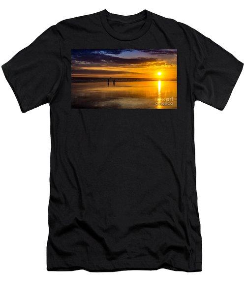 Sunset Bike Ride Men's T-Shirt (Athletic Fit)