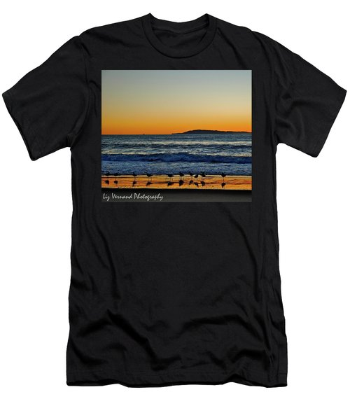Sunset Bird Reflections Men's T-Shirt (Athletic Fit)