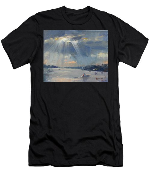 Sunset Boating Men's T-Shirt (Athletic Fit)
