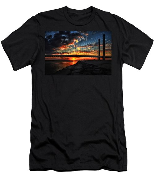 Sunset Bridge At Indian River Inlet Men's T-Shirt (Athletic Fit)