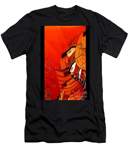 Sunset Building Men's T-Shirt (Slim Fit) by Thibault Toussaint